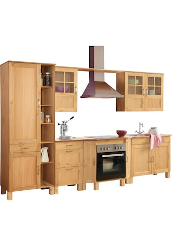 Home affaire Küchen - Set »Alby«, ohne E - Geräte, Breite 325 cm, aus massiver Kiefer kaufen