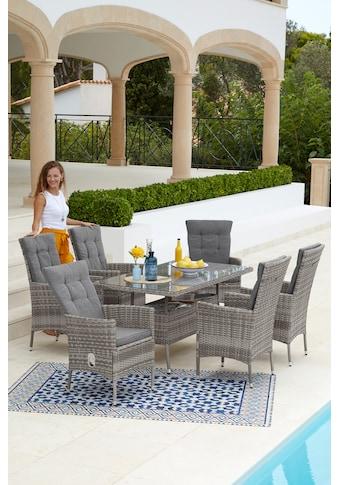 KONIFERA Gartenmöbelset »Belluno«, 13 - tlg., 6 Sessel, Tisch 150x 80 cm, Polyrattan kaufen