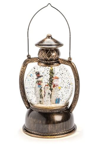 KONSTSMIDE LED Laterne »Schneemannfamilie«, wassergefüllte Kugellaterne mit Timer kaufen