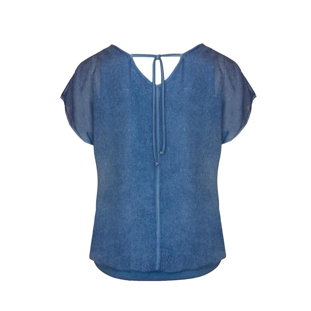 bianca Chiffonbluse »ASIMA«, mit kleinem Rückenausschnitt und Wash-Out-Effekt