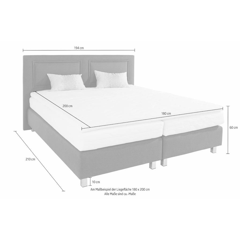 Westfalia Schlafkomfort Boxspringbett, inkl. Kaltschaum-Topper und Zierkissen