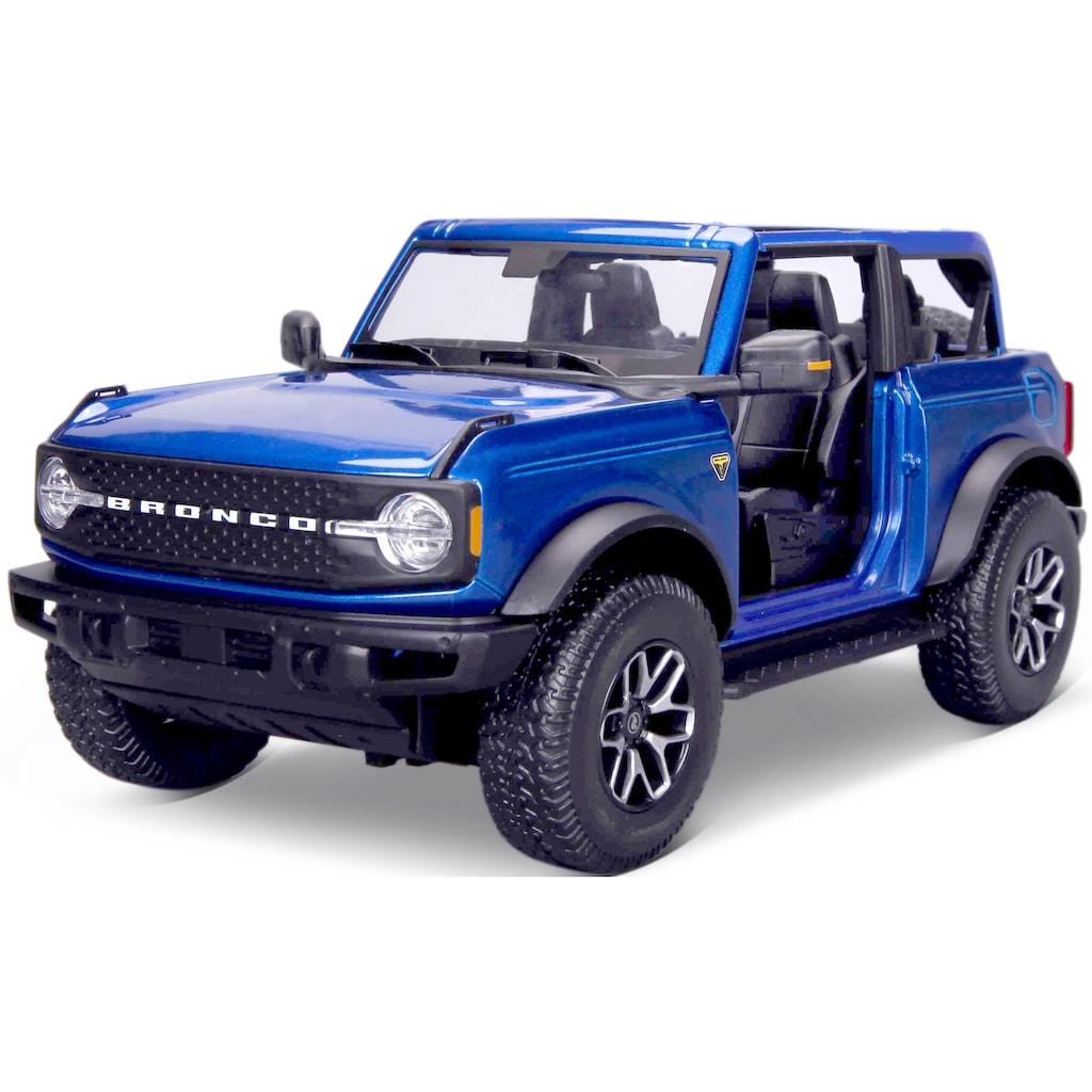 Maisto® Sammlerauto »Ford Bronco ´21, no doors Badlands«, 1:18