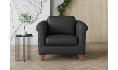 machalke® Sessel »amadeo«, Ledersessel mit geschwungenen Armlehnen kaufen