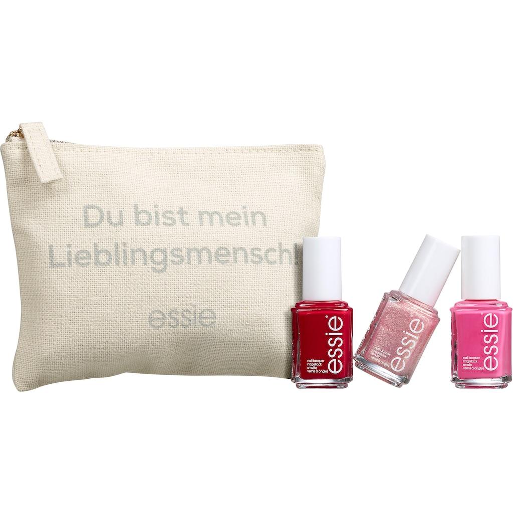 essie Nagellack-Set »Geschenkset Lieblingsmensch«, (4 tlg.)