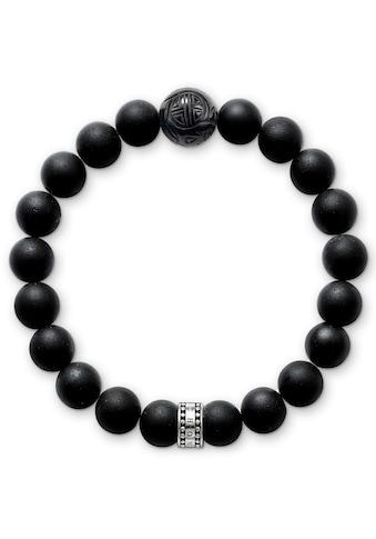 THOMAS SABO Armband »OBSIDIAN, A1085-023-11-L, A1085-023-11-XL«, mit Obsidian kaufen