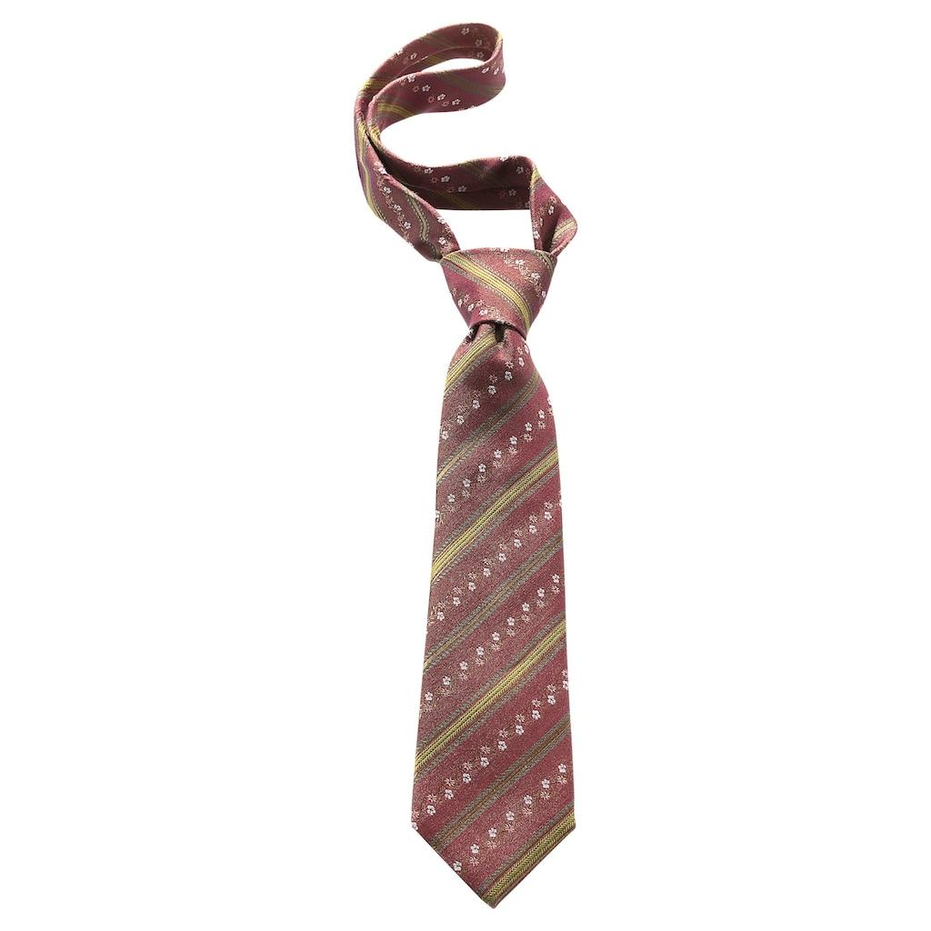 Krawatte, mit edlen Blütenranken