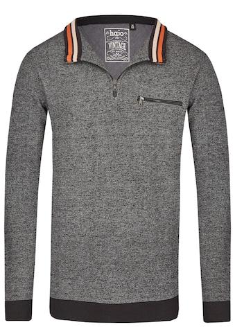Hajo Sweatshirt in Moulineoptik kaufen