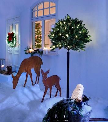 Stimmungsvolle Weihnachtsdeko für außen
