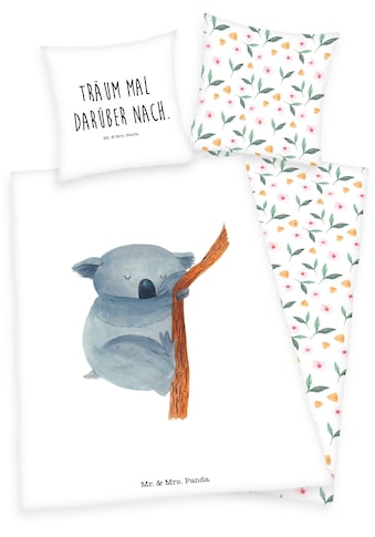 Wendebettwäsche »Mr. & Mrs. Panda«, mit Pandabär und Schriftzug kaufen