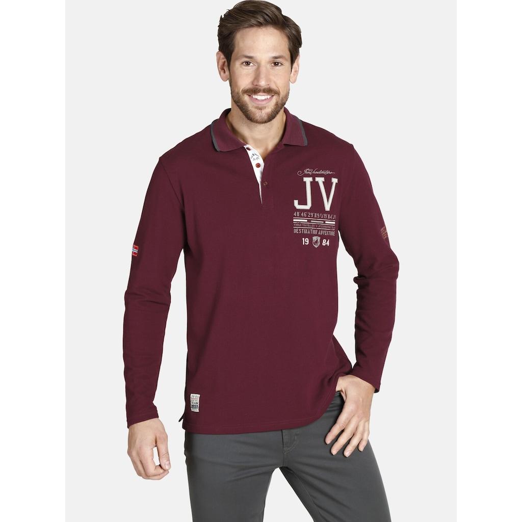 Jan Vanderstorm Langarm-Poloshirt »VEDEL«, aus luftigem Pikee