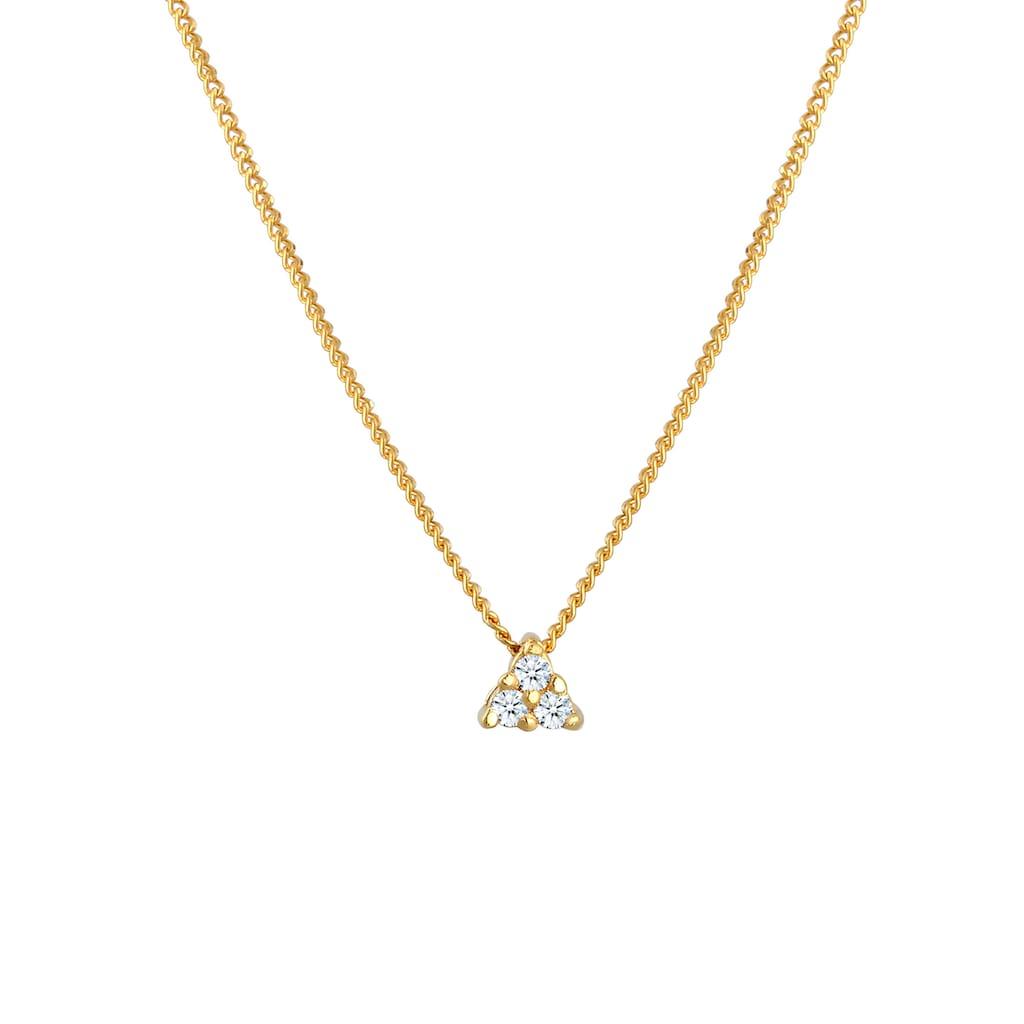 Diamore Collierkettchen »Panzerkette Dreieck Diamant (0.045 ct)585 Gelbgold«