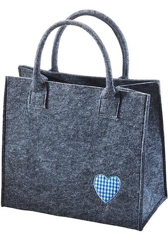 Home affaire Aufbewahrungstasche »Blaues Herz« kaufen