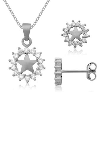 Firetti Ohrring und Ketten Set »Stern, massiv und voller Glanz«, mit Zirkonia, Made in... kaufen
