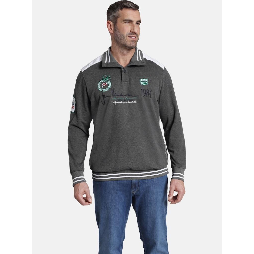 Jan Vanderstorm Sweatshirt »MILE«, mit hohem Tragekomfort