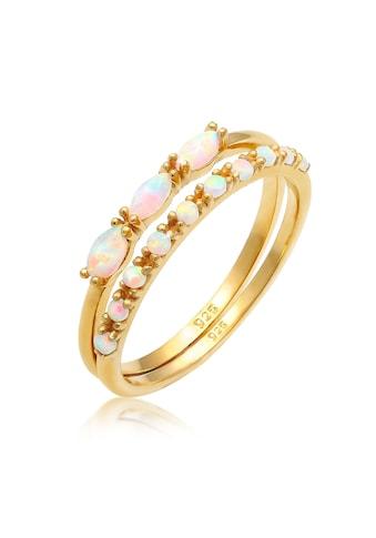 Elli Solitärring »Ring Set Vintage Opal Silber vergoldet« kaufen