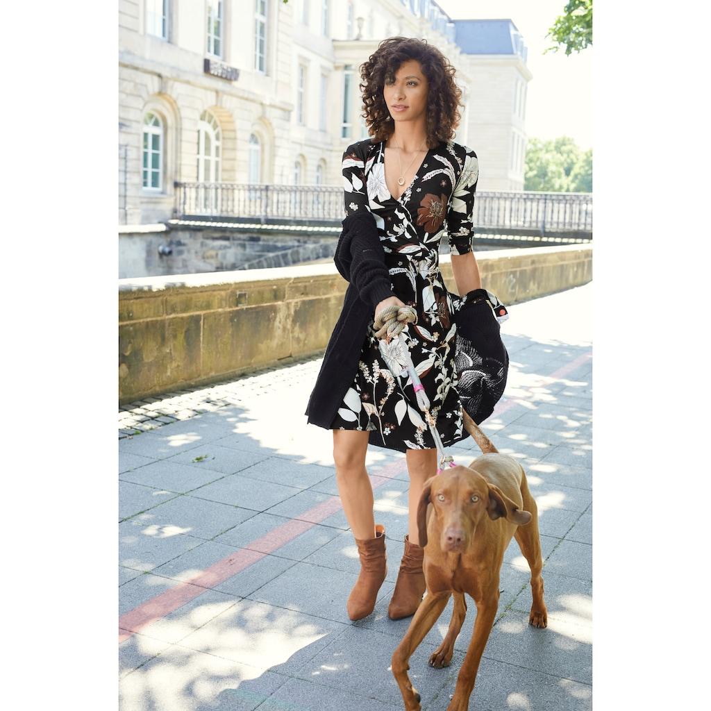 Aniston SELECTED Jerseykleid, in femininer Wickel-Optik