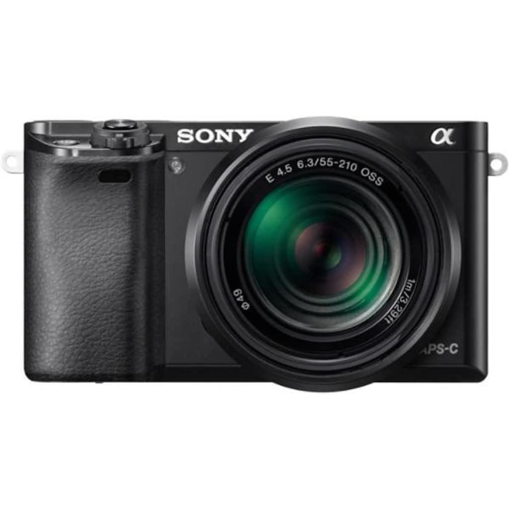 Sony Systemkamera »Alpha ILCE-6000Y Set«, Sony 16-50, Sony 55-210, 24,3 MP, WLAN (Wi-Fi), Gesichtserkennung, HDR-Aufnahme