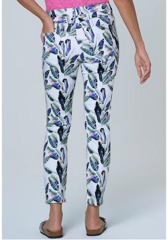 SOCCX 5-Pocket-Jeans »MI:RA«, mit Allover Blätter-Druck kaufen