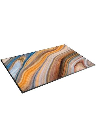 wash+dry by Kleen-Tex Teppich »Granito«, rechteckig, 7 mm Höhe, waschbar, Wohnzimmer kaufen