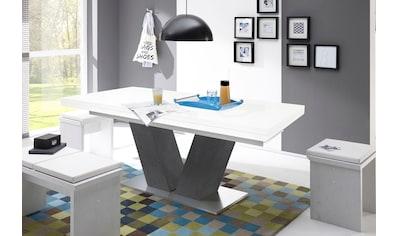 Esstisch »Komfort D«, mit V-Gestell in graphit und mit Auszugsfunktion, Breite 160-260 cm kaufen