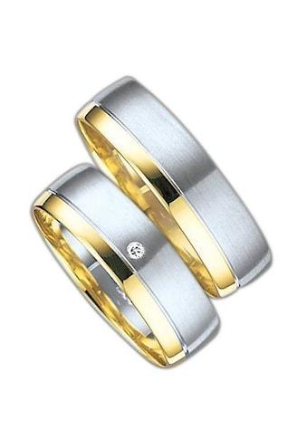 Firetti Trauring mit Gravur »glanz, seidenmatt, Diamantschnitt, bicolor, 6,0 mm... kaufen