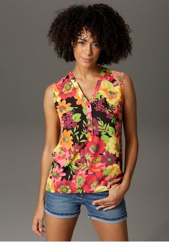 Aniston CASUAL Blusentop, mit farbenfrohen Blumen bedruckt - NEUE KOLLEKTION kaufen