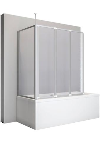 Schulte Badewannenaufsatz, BxHxT: 128,8x140x75 cm, mit Teleskopstange und Seitenwand kaufen
