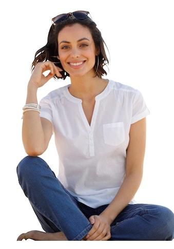 Casual Looks Bluse mit fixierten Umschlägen an den Ärmeln kaufen
