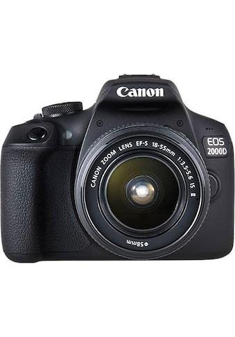 Canon Spiegelreflexkamera »EOS 2000 D EF-S 18-55 IS II Kit«, EF-S 18-55 IS II,... kaufen