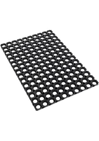 Andiamo Fußmatte »Gummi Ringmatte«, rechteckig, 15 mm Höhe, Schmutzfangmatte, In- und... kaufen
