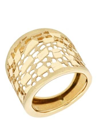 Firetti Goldring »mit toller Oberfläche, im Verlauf gebürstet/satiniert in filigraner... kaufen