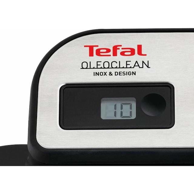 Tefal Kaltzonenfritteuse FR8040 Oleoclean Pro Inox & Design, 2300 Watt, Fassungsvermögen 3,5 Liter