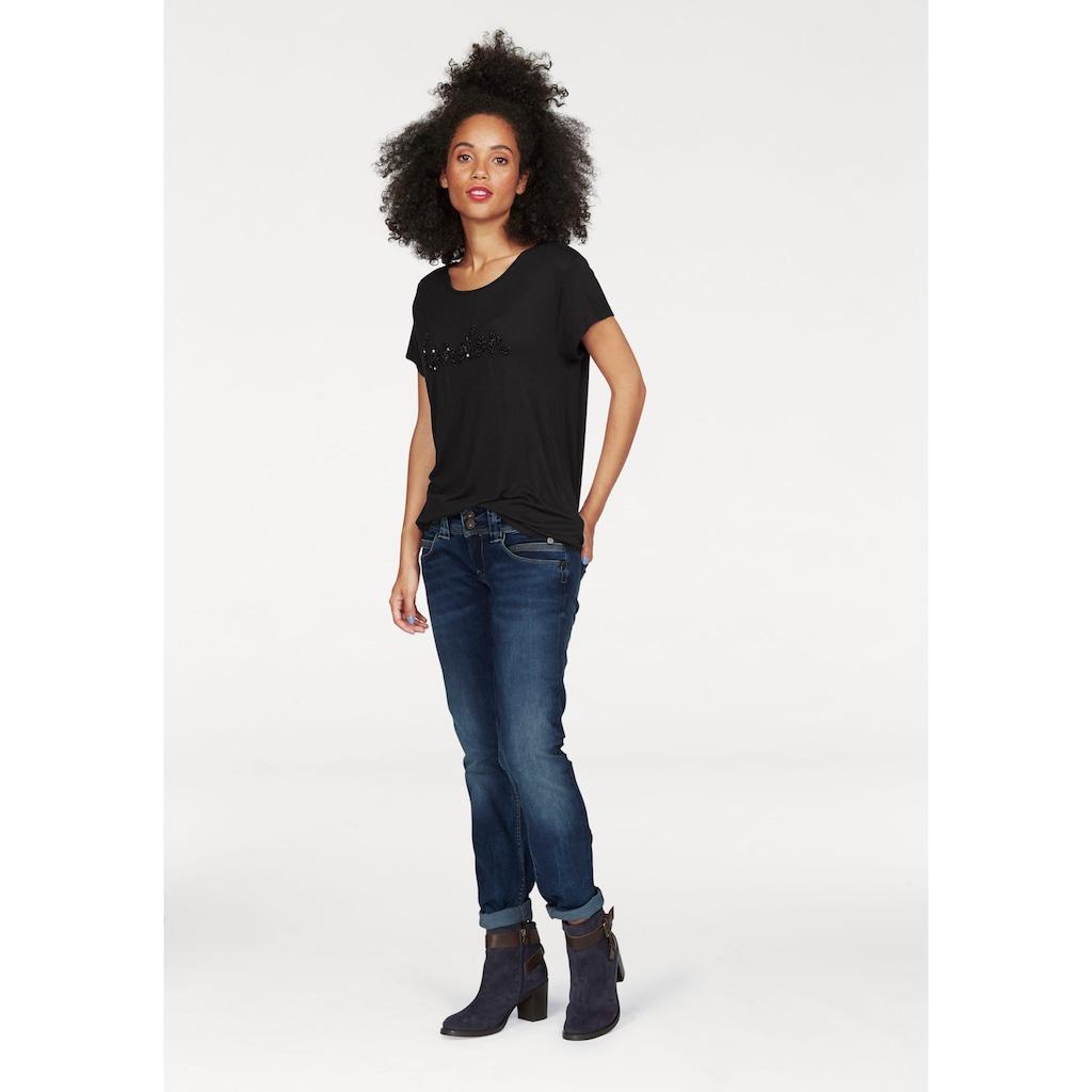 Pepe Jeans Straight-Jeans »VENUS«, mit 2-Knopf Bund und doppelter Gesäßtasche