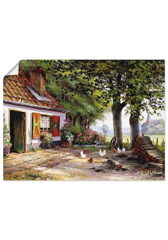Artland Wandbild »Hühner auf dem Hof«, Garten, (1 St.), in vielen Größen &... kaufen