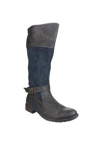 Divaz Stiefel »Damen Garbo mit Reißverschluss und Kontrast-Details« kaufen
