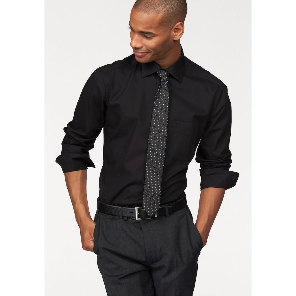 OLYMP Businesshemd »Luxor modern fit«, extra lange Ärmel, bügelfrei, mit Brusttasche