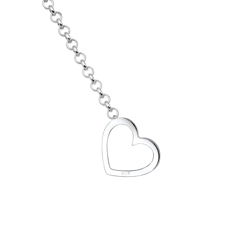 Elli Collierkettchen »Y-Kette Herz Liebe Pfeil Amor 925 Sterling Silber«
