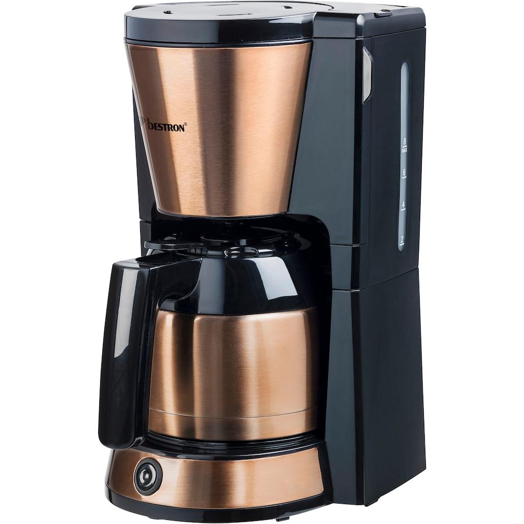 bestron Filterkaffeemaschine »ACM1000CO«, Papierfilter, 1x4, mit Thermokanne, 8 Tassen, 900 W, Edelstahl in Kupfer -Optik