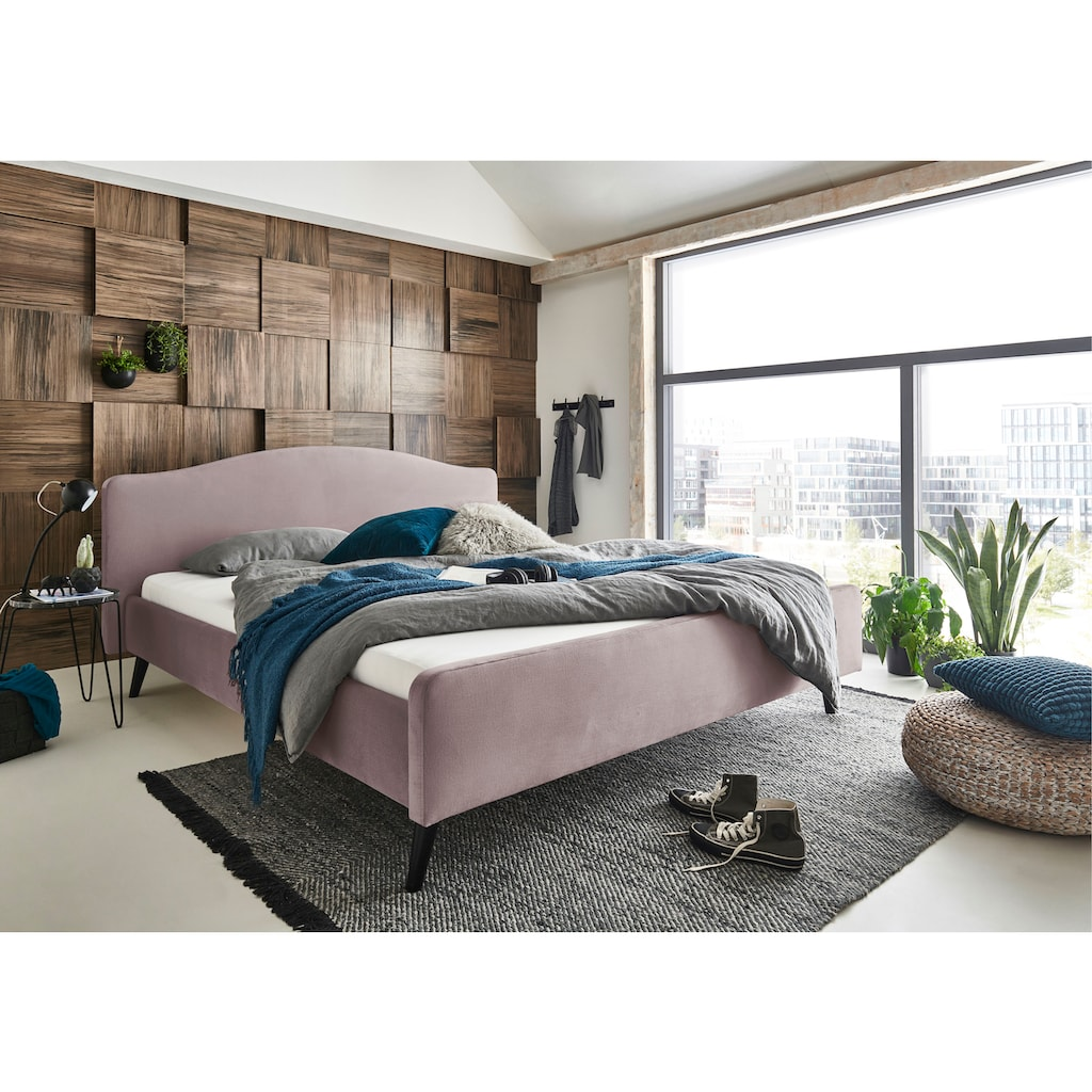 ATLANTIC home collection Polsterbett »Tamiga«, mit Massivholzfüße