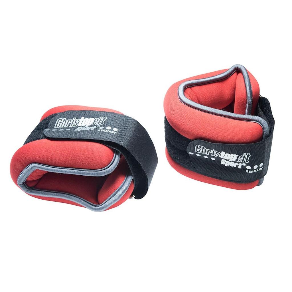 Christopeit Sport® Gewichtsmanschette »Gewichtsmanschette 2 x 2,0 kg«, 4 kg, (Set, 2 tlg.)