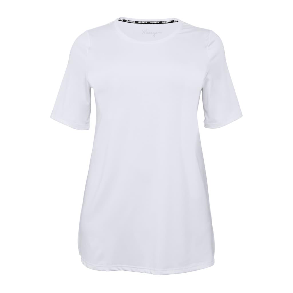 Sheego Longshirt, mit atmungsaktiver, schnelltrocknender Funktion