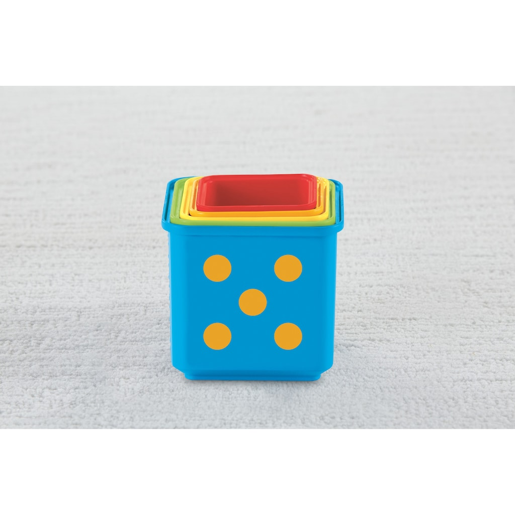 Fisher-Price® Stapelspielzeug »Entdecker- und Stapelwürfel«, (5 tlg.)