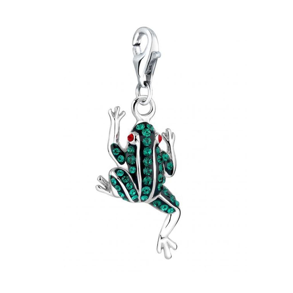 Nenalina Charm-Einhänger »Anhänger Frosch Kristalle 925 Silber«
