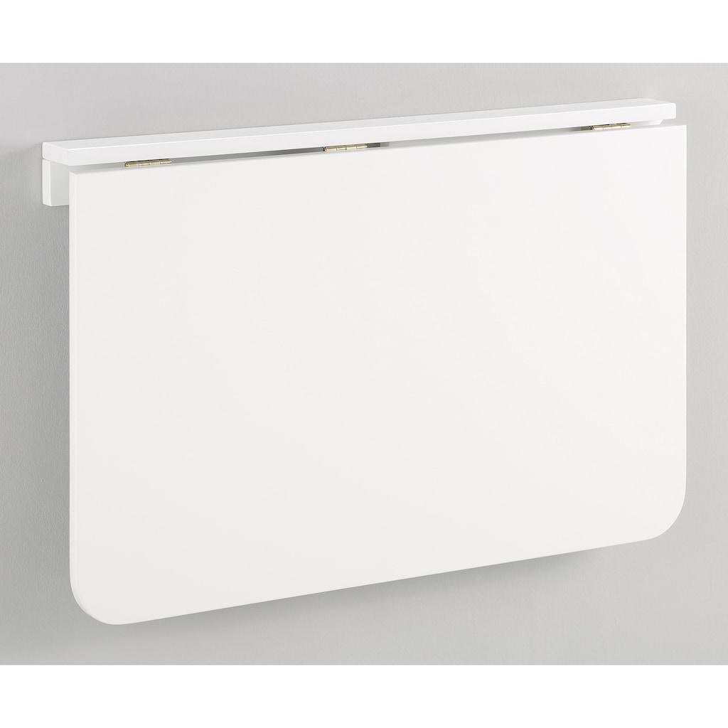 Home affaire Klapptisch »Trend«, aus schönem weiß lackiertem MDF Holz, platzsparend, Tischplattenstärke 1,8 cm
