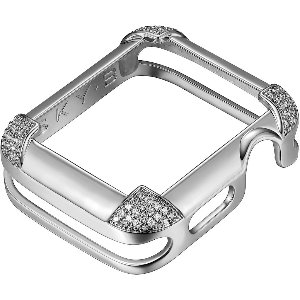 SKY•B Smartwatch-Hülle »PAVÉ CORNERS, W002S44, 44 mm«, Watch