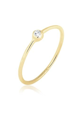 Elli Fingerring »375 Gelbgold Solitärring Zirkonia« kaufen