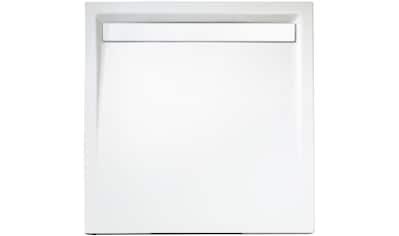Schulte Duschwanne »extra - flach«, quadratisch mit Rinne, BxT: 100 x 100 cm kaufen