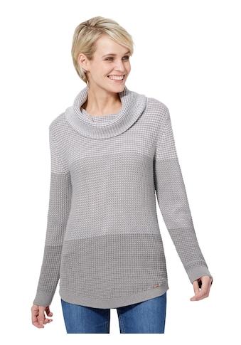 Casual Looks Pullover im effektvollen Strickmustermix kaufen