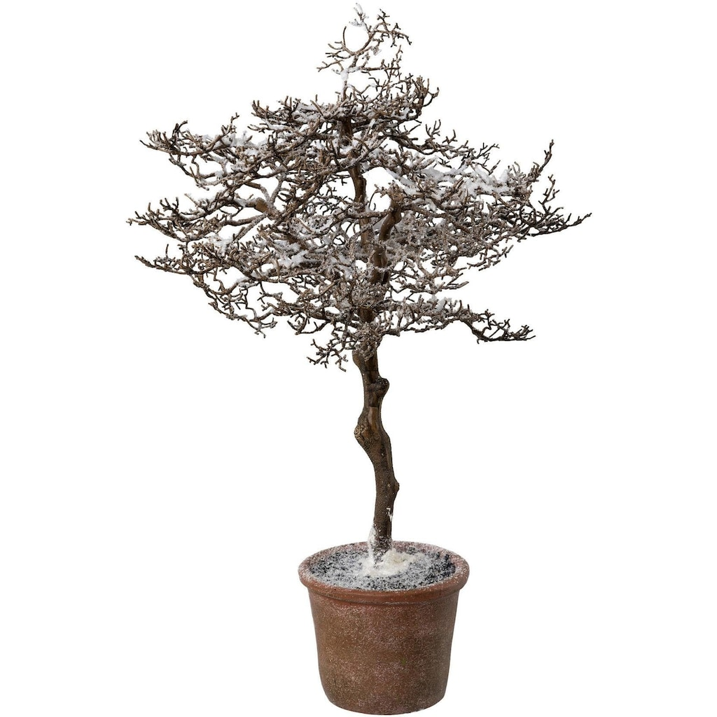 Kunstbaum »Hainbuche im Topf«, mit zauberhaftem Schnee