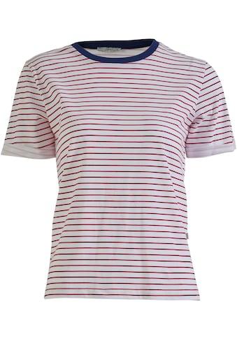 LTB Kurzarmshirt »LEFOLO«, im Streifen-Design mit kontrastfarbenem Ausschnitt kaufen